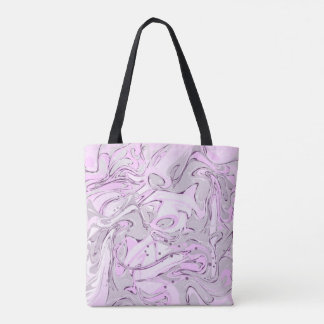 Purple faux marble texture for trendy girl tote bag