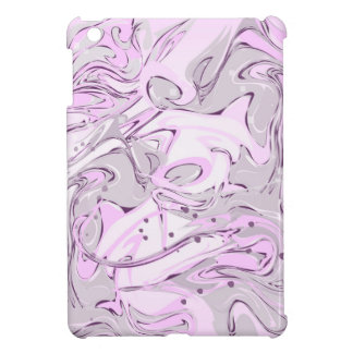 Purple faux marble texture iPad mini case