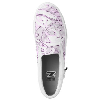 Purple faux marbled texture slip on shoes