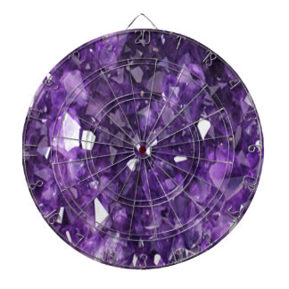 PURPLE FEBRUARY AMETHYST CRYSTALS DARTBOARD