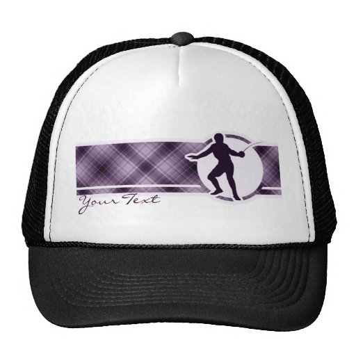 Purple Fencing Mesh Hat