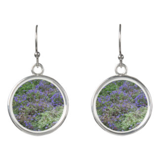 Purple Fields of Joy Drop Earrings