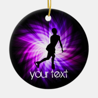 Purple Figure Skating Christmas Ornament