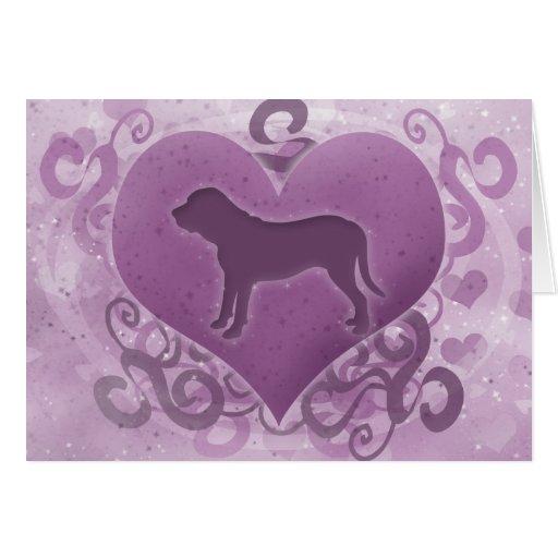 Purple Fila Brasileiro Valentine's Day Card