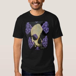 purple filigree skull tees
