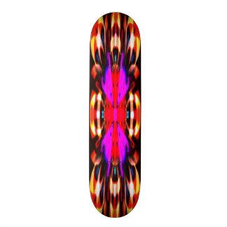Purple fire spirit mandala skate board deck
