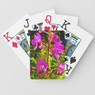 Purple Fireweed Alaska Wildflower Abstract Poker Deck
