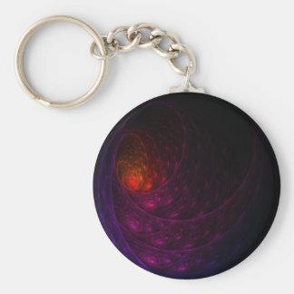 Purple Firework Basic Round Button Key Ring