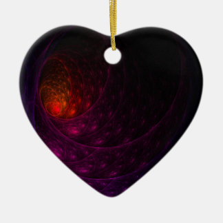 Purple Firework Ceramic Heart Decoration
