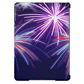 Purple Fireworks case Cover For iPad Air