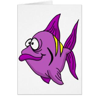 Purple Fish Greeting Card