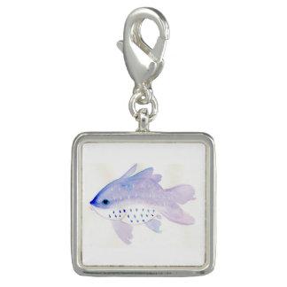 Purple Fish Charm