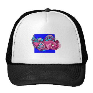 Purple Fish Mesh Hat