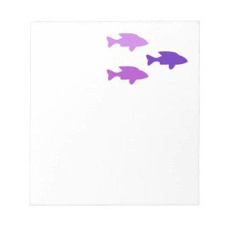 Purple fish Notepad