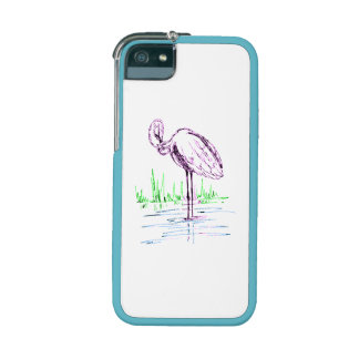 Purple Flamingo iPhone 5/5S Case