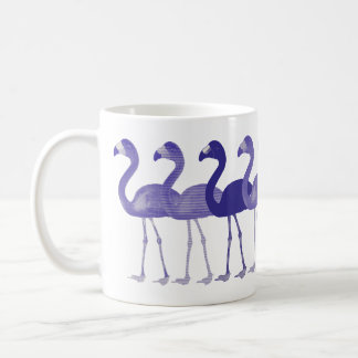 Purple Flamingos Retro Vintage Coffee Mug