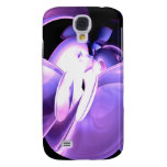 Purple Flare Abstract 3G Galaxy S4 Case