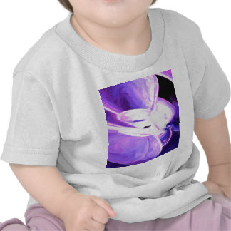 Purple Flare Painted Abstract Tshirts