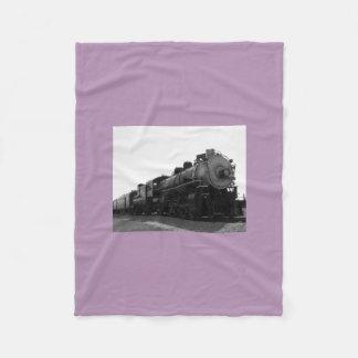 Purple Fleece Blanket Steam Engine