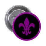 Purple Fleur de Lis Badge