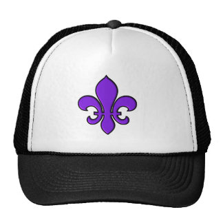 Purple Fleur de lis - Hat