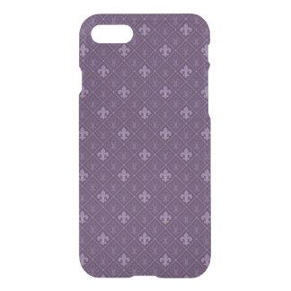 Purple Fleur de Lis Pattern iPhone 7 Case