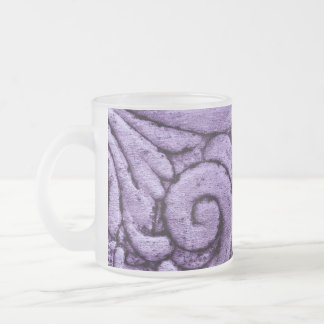 Purple Fleur de Lis Scrolls Carving Design Mug