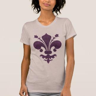 Purple fleur de lis symbol T-Shirt