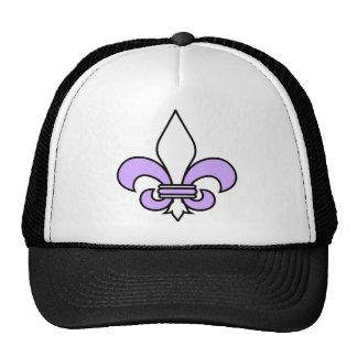 Purple Fleur De Lys Mesh Hats