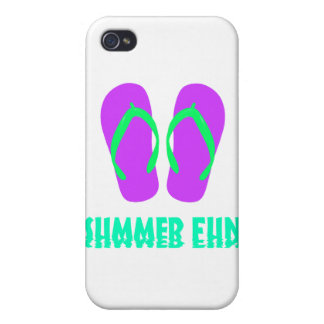 Purple Flip Flops iPhone 4 Case