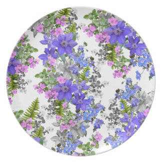 Purple Flora Light Plate