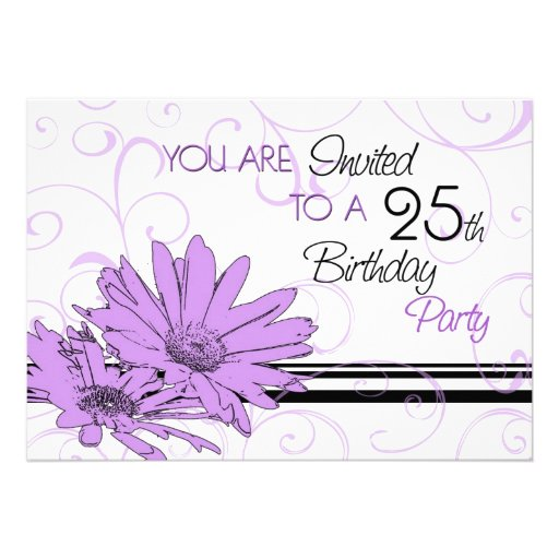 25Th Birthday Invitations could be nice ideas for your invitation template