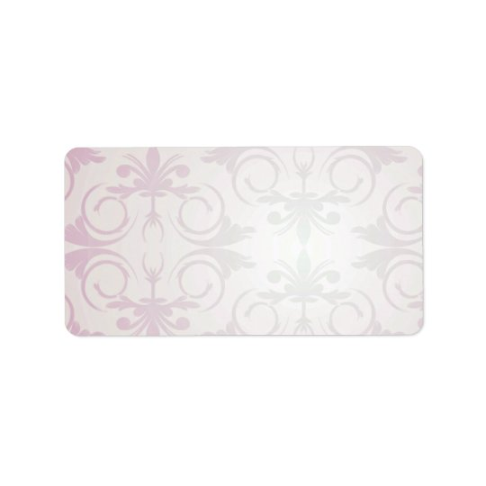 Purple floral and paisley pattern gift label