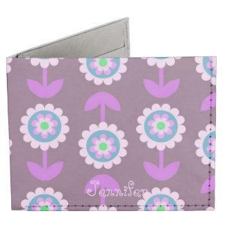 Purple Floral Bifold Wallet