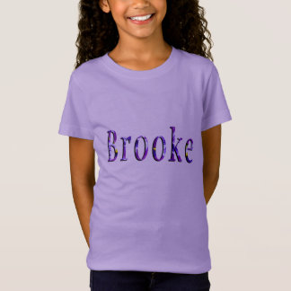 Purple Floral Brooke Name Logo, T-Shirt