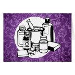 Purple Floral Cloth - Fibromyalgia Awareness Greeting Card