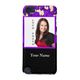 Purple floral damask photo template iPod touch (5th generation) covers