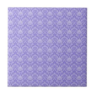 Purple Floral Damask Tiles