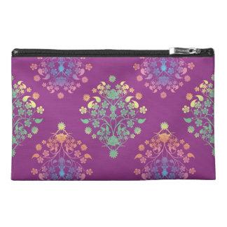 Purple Floral Damask Vintage Pattern Travel Accessories Bags