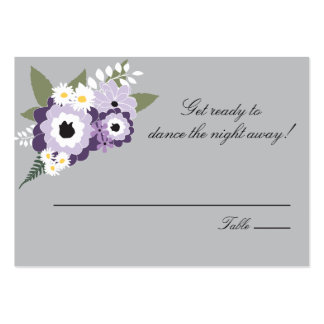 Purple Floral | Escort Seating Card Business Card