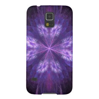 Purple Floral Fractal Galaxy S5 Case