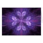 Purple Floral Fractal Greeting Card