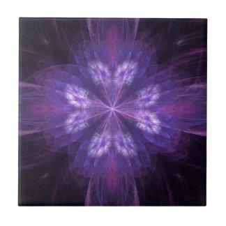Purple Floral Fractal Tiles