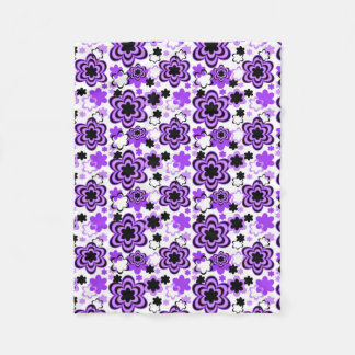 Purple Floral Girl Fleece Blanket