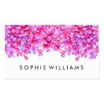 Purple Floral Lilacs Professional Pack Of Standard Business Cards