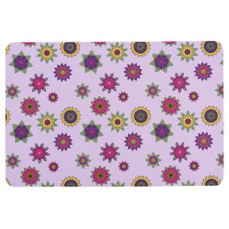 Purple Floral Mandala Floor Mat