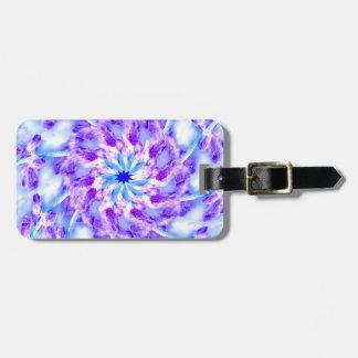 Purple Floral Mandala Luggage Tag