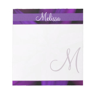 Purple Floral Monogram Notepad