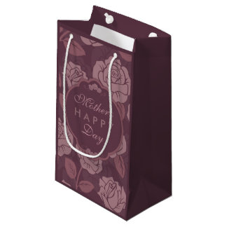 Purple Floral Mother's Day Gift Bag