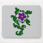 Purple Floral Mouse Mats
